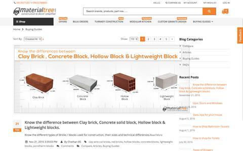 Screenshot of Blog materialtree.com - Building Materials Buying Guides - captured Nov. 28, 2016