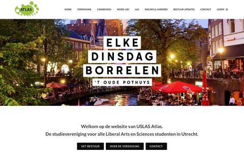 Screenshot of Home Page usatlas.nl - Home - USLAS Atlas - captured Nov. 15, 2018