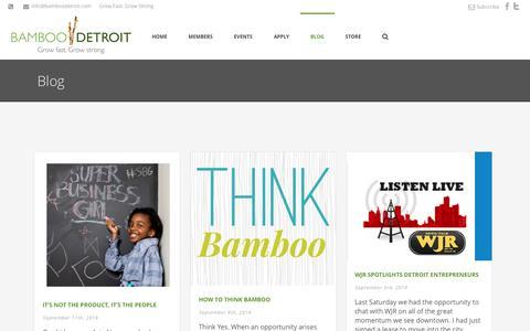 Screenshot of Blog bamboodetroit.com - Detroit Blog on Business - captured Sept. 30, 2014