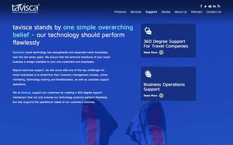 Screenshot of Support Page tavisca.com - Technical Support for Travel Business Operations of Travel & Tourism Companies | tavisca - captured Nov. 3, 2014