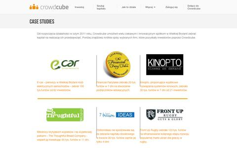 Screenshot of Case Studies Page crowdcube.pl - Case Studies > raised business finance : Crowdcube - Crowdcube | Finansowanie społecznościowe dla przedsiębiorstw - captured Oct. 27, 2014