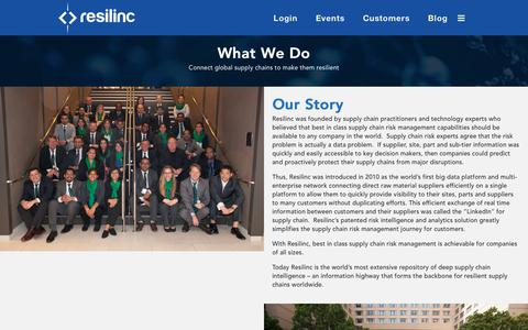 Screenshot of About Page resilinc.com - About - Resilinc - captured Nov. 17, 2018