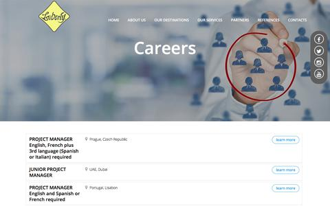 Screenshot of Jobs Page liberty-int.com - Contacts careers - captured Aug. 2, 2017