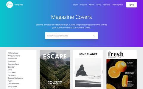 Magazine Cover Templates - Canva