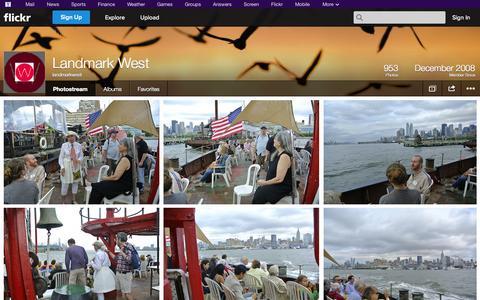 Screenshot of Flickr Page flickr.com - Flickr: landmarkwest's Photostream - captured Oct. 22, 2014
