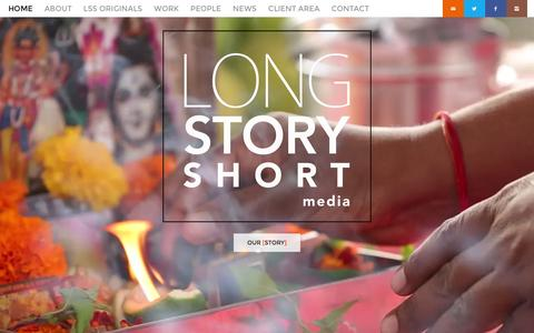 Screenshot of Home Page lssmedia.com - Long Story Short Media - Long Story Short Media Home - Long Story Short Media - captured Feb. 4, 2016