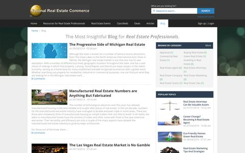 Screenshot of Blog nationalrealestatecommerce.com - Real Estate: The Most Resourceful Real Estate Blog | NationalRealEstateCommerce.com - captured Sept. 30, 2014