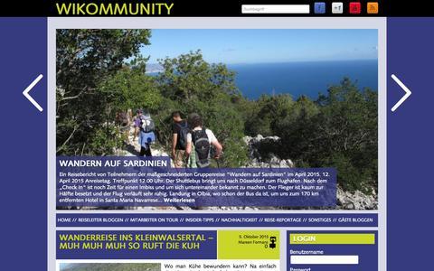 Screenshot of Home Page wikinger-blog.de - Wikommunity | Der Blog von Wikinger Reisen - captured Oct. 8, 2015