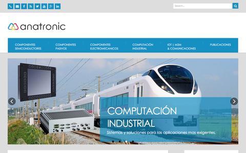 Screenshot of Home Page anatronic.com - Anatronic Componentes Electronicos – Anatronic Distribuidor de Componentes Electronicos, Comunicaciones Industriales, Informatica Industrial - captured Nov. 20, 2016