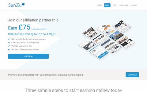 Screenshot of Signup Page sunzu.com - SunZu-We will build your business website for you - captured Sept. 26, 2018