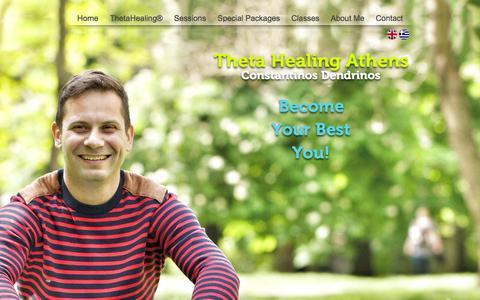 Screenshot of Home Page thetahealingathens.com - Theta Healing Athens - captured Oct. 9, 2014
