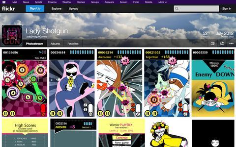 Screenshot of Flickr Page flickr.com - Flickr: LadyShotgunGames' Photostream - captured Oct. 22, 2014