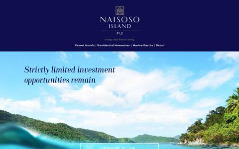 Screenshot of Contact Page naisosoisland.com - Fiji Freehold Land   Contact Naisoso Today +679 675 0172 - captured July 1, 2018