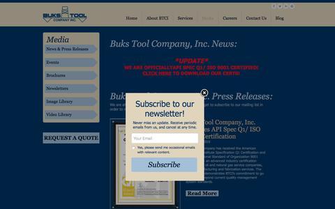 Screenshot of Press Page bukstool.com - Buks-Media - captured Oct. 11, 2017