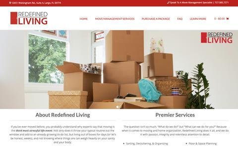 Screenshot of Home Page redefinedliving.com - Home  - Redefined Living - captured Oct. 20, 2018