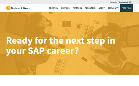 Screenshot of Jobs Page neptune-software.com - Looking for a new SAP career? | Neptune Software - captured Feb. 2, 2018