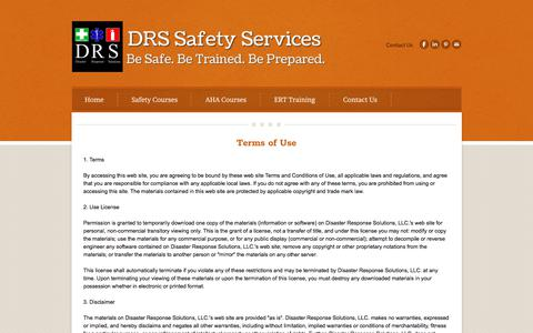 Screenshot of Terms Page drssafety.com - Privacy Practices - DRS First Aid and Safety - captured Oct. 12, 2017