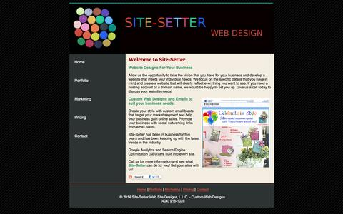 Screenshot of Home Page site-setter.com - Site Setter - Set your sites on us! - captured March 13, 2016
