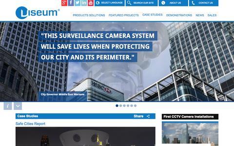 Screenshot of Case Studies Page viseum.co.uk - Viseum Safe Case Studies - captured Oct. 7, 2014