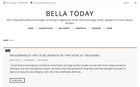 Screenshot of Blog bellatoday.nl - Blog Archives - Bella Today - captured Aug. 1, 2018