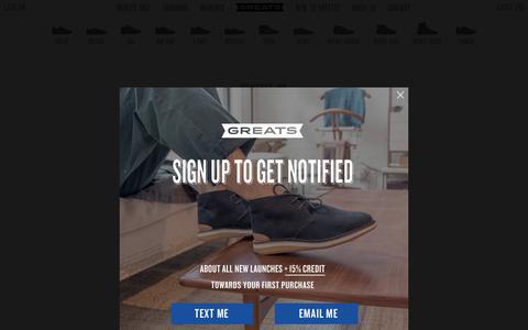 Screenshot of Contact Page greats.com - Contact | Greats - captured Feb. 19, 2016