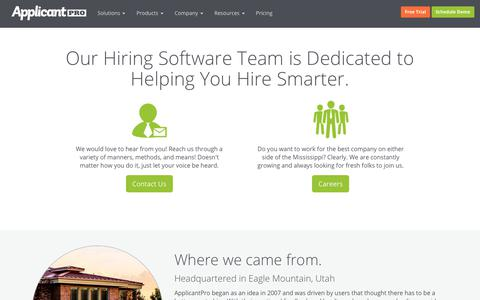 About Our Hiring Software | ApplicantPro
