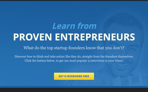 Screenshot of Home Page mixergy.com - Mixergy - Business tips for startups by proven entrepreneurs - captured Nov. 21, 2015