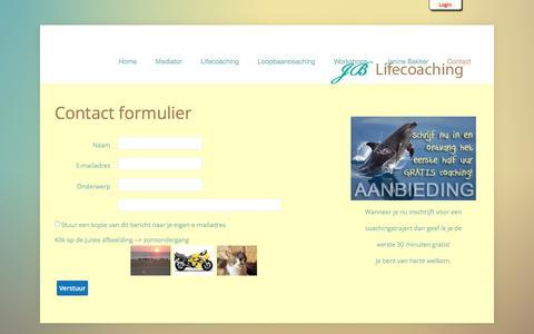 Screenshot of Contact Page jb-lifecoaching.nl - Contact - captured Dec. 19, 2015