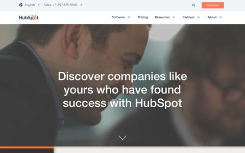Screenshot of Case Studies Page hubspot.com - Inbound Marketing Software Success Stories | Customer Case Studies - captured Dec. 17, 2017