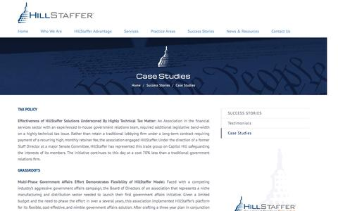 Screenshot of Case Studies Page hillstaffer.com - Case Studies – HillStaffer - captured Nov. 8, 2016