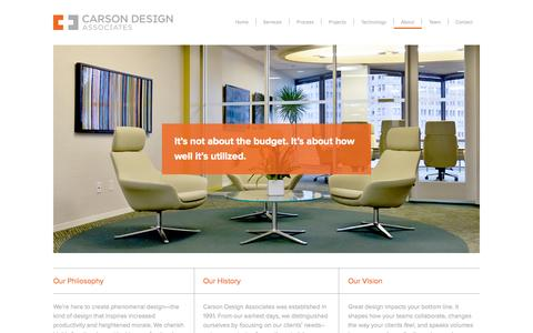 Screenshot of About Page carsondesign.com - About Carson Design - captured Oct. 2, 2014