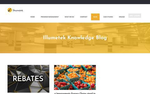 Screenshot of Blog illumetek.com - Illumetek Knowledge Blog - Illumetek Corp - captured Oct. 14, 2017