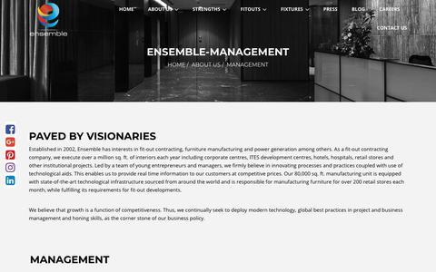 Screenshot of Team Page ensemble.co.in - Ensemble-Management - Ensemble: Interior Fitout & Furniture - captured Sept. 28, 2018
