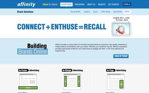 Screenshot of Team Page affinity.com - Innovative Branding Display Advertising Solutions   Affinity - captured Nov. 12, 2019