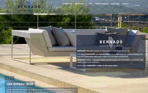 Screenshot of Home Page bernado.es - Bernado. Luxury Houses - captured Feb. 7, 2016