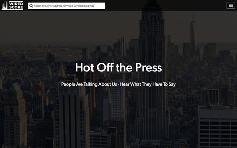 Screenshot of Press Page wiredscore.com - WiredScore   Press - captured March 2, 2017
