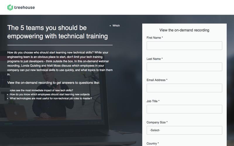 Webinar 1: 5 Departments in Need of Tech Training   Treehouse