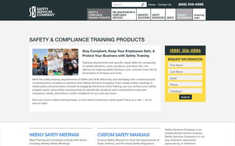 Screenshot of Products Page safetyservicescompany.com - Safety & Compliance Training Products | Safety Services Company - captured Aug. 26, 2017