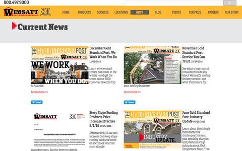 Screenshot of Press Page wimsattdirect.com - Wimsatt Building Materials - News - captured Dec. 2, 2016