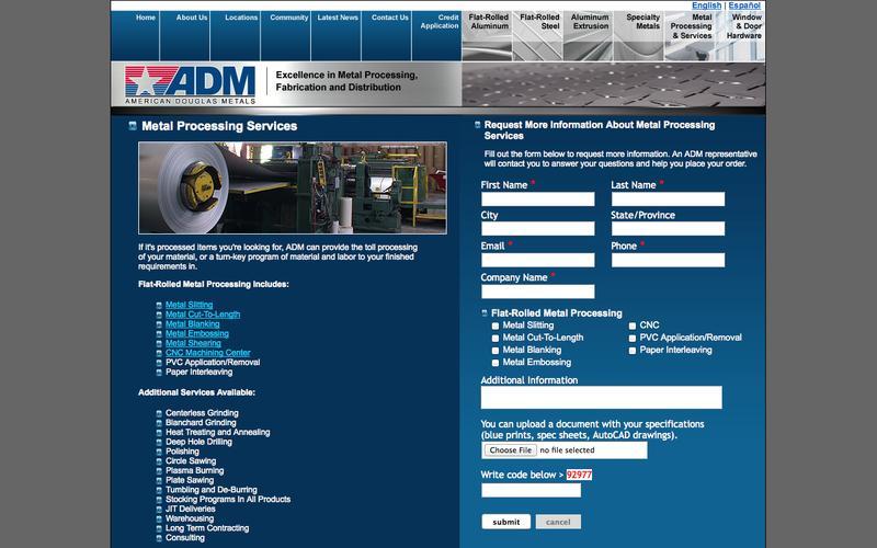 Metal Processing Services | American Douglas Metals