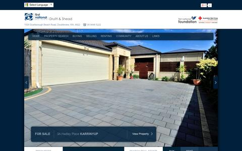 Screenshot of Home Page druitt.com.au - First National Real Estate Druitt & Shead - Doubleview Real Estate , Innaloo  |  Scarborough  |  Karrinyup  |  Doubleview  |  Balcatta - captured Oct. 1, 2014