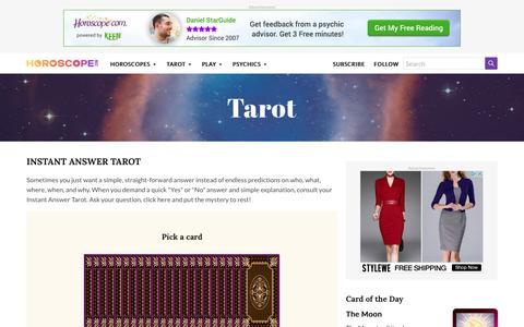 Instant Answer Tarot Reading | Horoscope.com