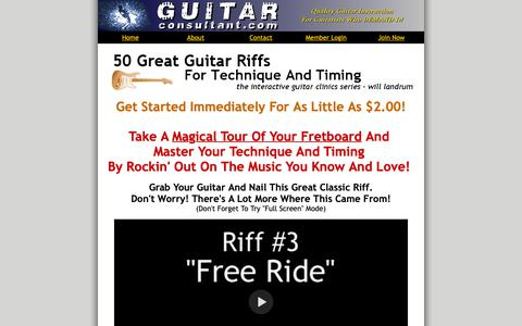 Screenshot of Home Page Terms Page guitarconsultant.com - Rock Guitar Lessons - captured Oct. 12, 2018