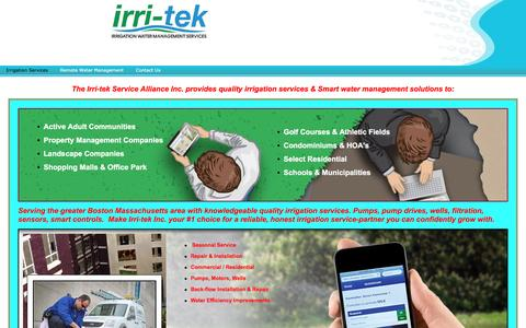 Screenshot of Home Page irri-tek.com - Home - captured Nov. 26, 2016