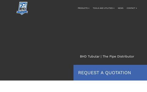 Screenshot of Home Page bhdtubular.ca - BHD Tubular: Edmonton Pipe Distributor - captured Dec. 9, 2018
