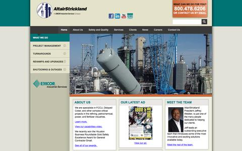 Screenshot of Home Page altairstrickland.com - Industrial Engineering Company :: AltairStrickland - captured July 29, 2018