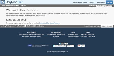 Screenshot of Jobs Page storyboardthat.com - Contact Storyboard That - captured Sept. 19, 2014