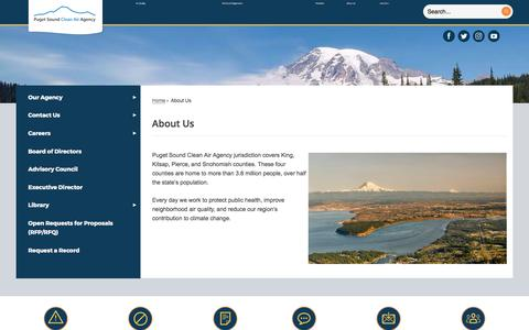 Screenshot of About Page pscleanair.org - About Us | Puget Sound Clean Air Agency, WA - captured Sept. 19, 2017