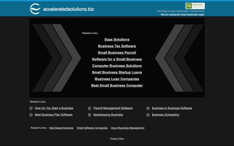 Screenshot of Home Page acceleratedsolutions.biz - acceleratedsolutions.biz - captured Feb. 5, 2016