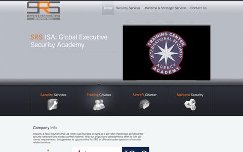 Screenshot of Home Page security-risksolutions.com - | - captured Oct. 24, 2014